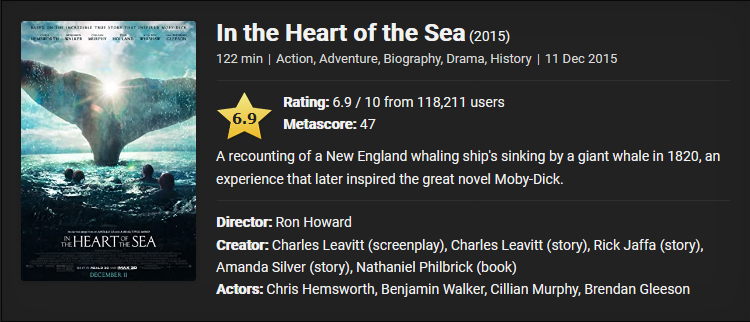 In the Heart of the Sea (2015) Downoad Full Movie English With Subtitles 480p [350MB] || 720p [900MB] || 1080p [1.8GB]