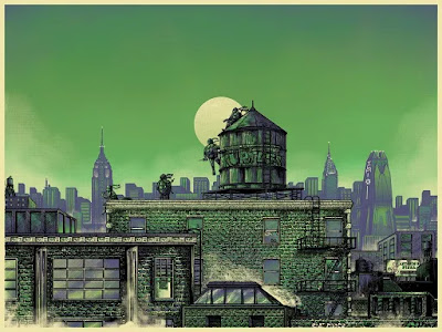 TMNT Variant Screen Print by Bailey Race x Bottleneck Gallery