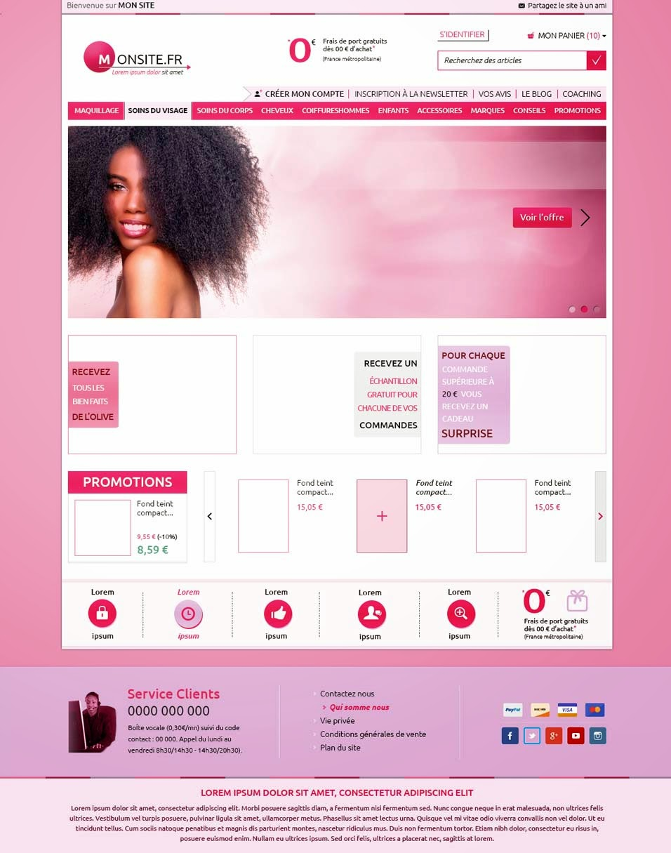 Pink – E Commerce Template