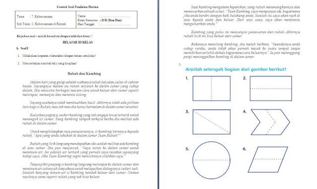 Soal PH Kelas 2 SD/MI: Tema 7