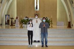 Penerimaan Sakramen krisma gereja St. Albertus Agung Paroki Harapan Indah