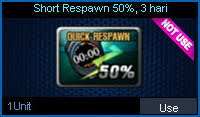 Short Respawn 50%