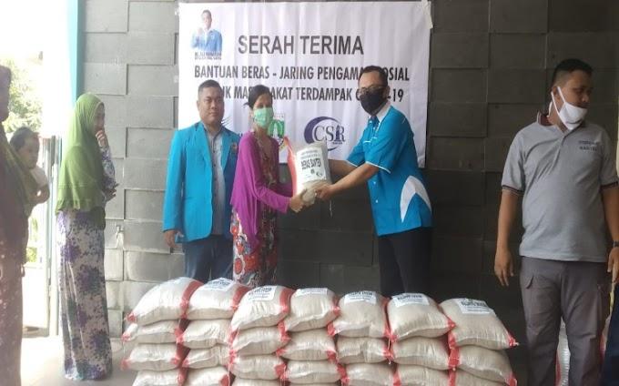 KNPI Provinsi Banten Bagikan 5 Ton Beras Bantuan CSR BJB