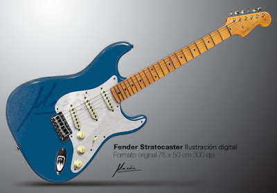 Fender Stratocaster Digital Illustration