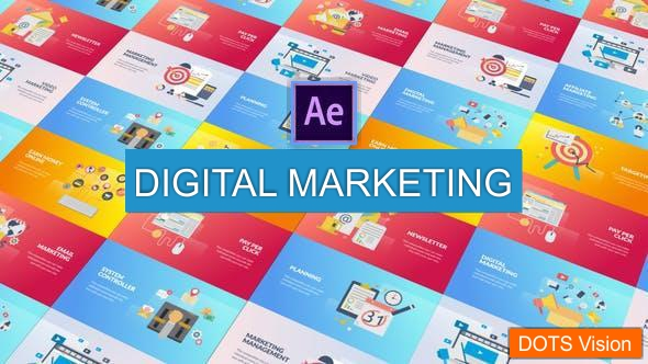 Free Digital Marketing Animation 2020 - After Effects Template