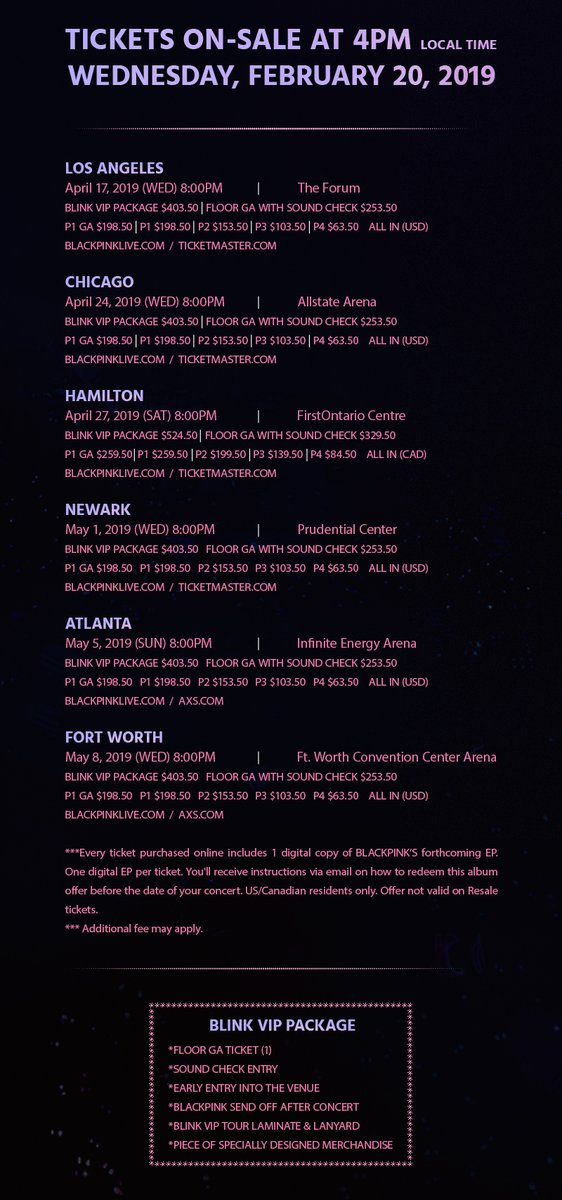 Blackpink Announces World Tour In North America S Dates And Cities