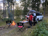 Wildcamping und Lagerfeuer,  Übernachten im 4x4
