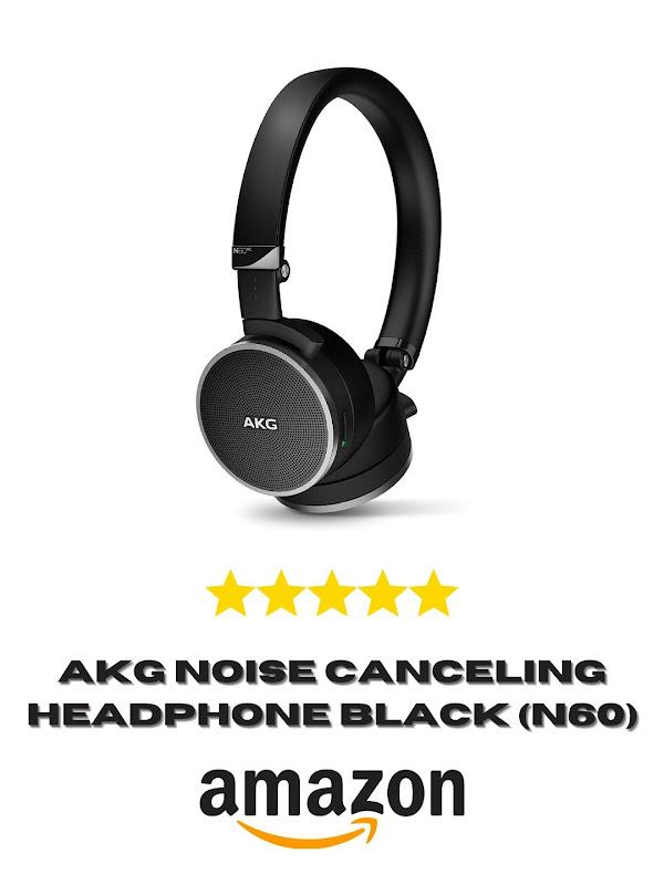 AKG Noise Canceling Headphones Black (N60)