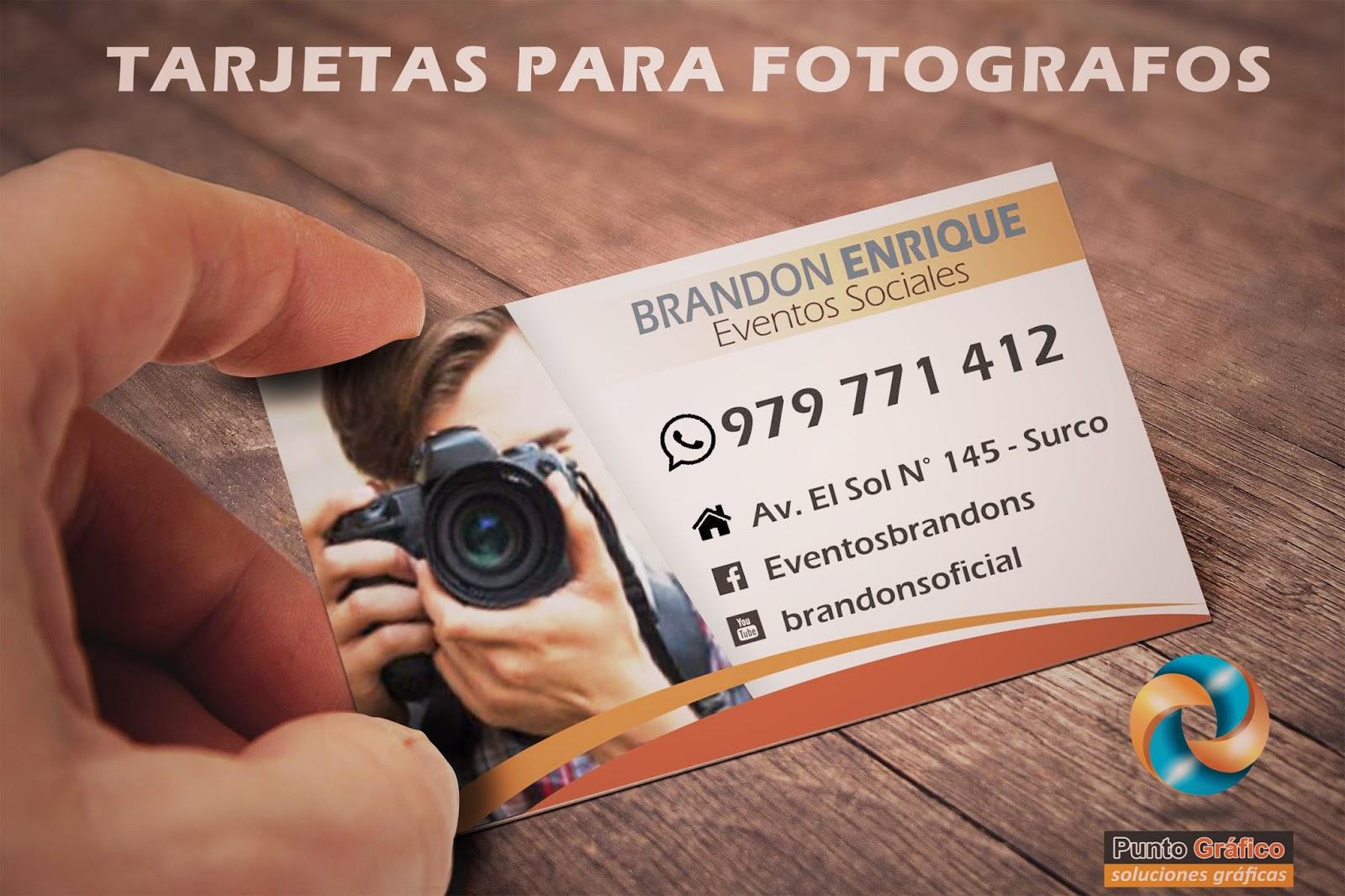 1a45c7e94e5d2 TARJETAS EVENTOS FILMACIONES FOTOGRAFIA - Tarjetas de Presentacion