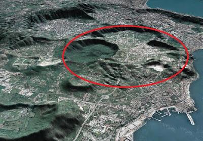 Campi Flegrei: zona dove, in caso di crisi vulcanica, potrebbe aprirsi una bocca eruttiva.