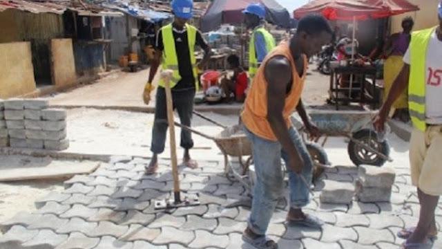 Projets, plan, développement, économie, pavage, rue, emploi, jeune, PSE, LEUKSENEGAL, Dakar, Sénégal, Afrique