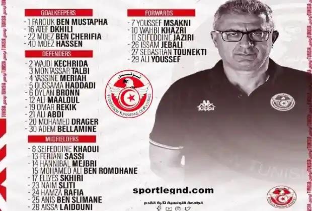 قائمة الوافدين الجدد للمنتخب التونسي,حنبعل المجبري,قائمة منتخب تونس