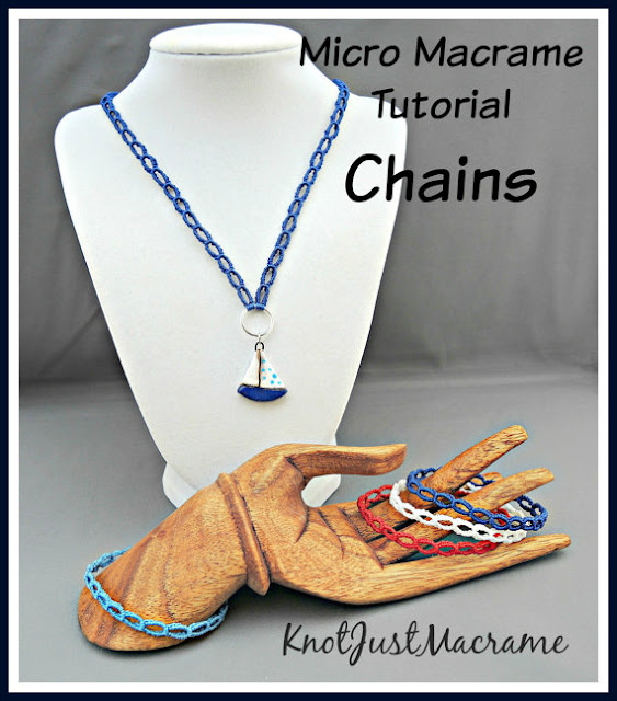 Micro macrame chains tutorial from Knot Just Macrame.