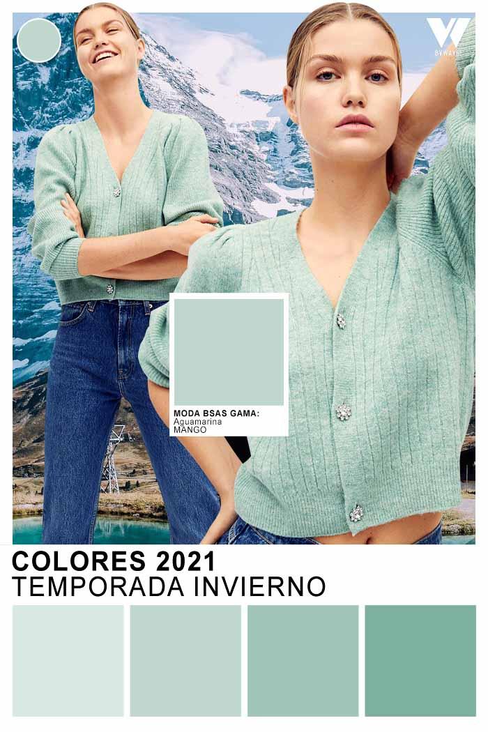 Sacos de mujer colores claros aquamarina otoño invierno 2021