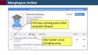 Cara Menghabus Artikel Di Google Scholar