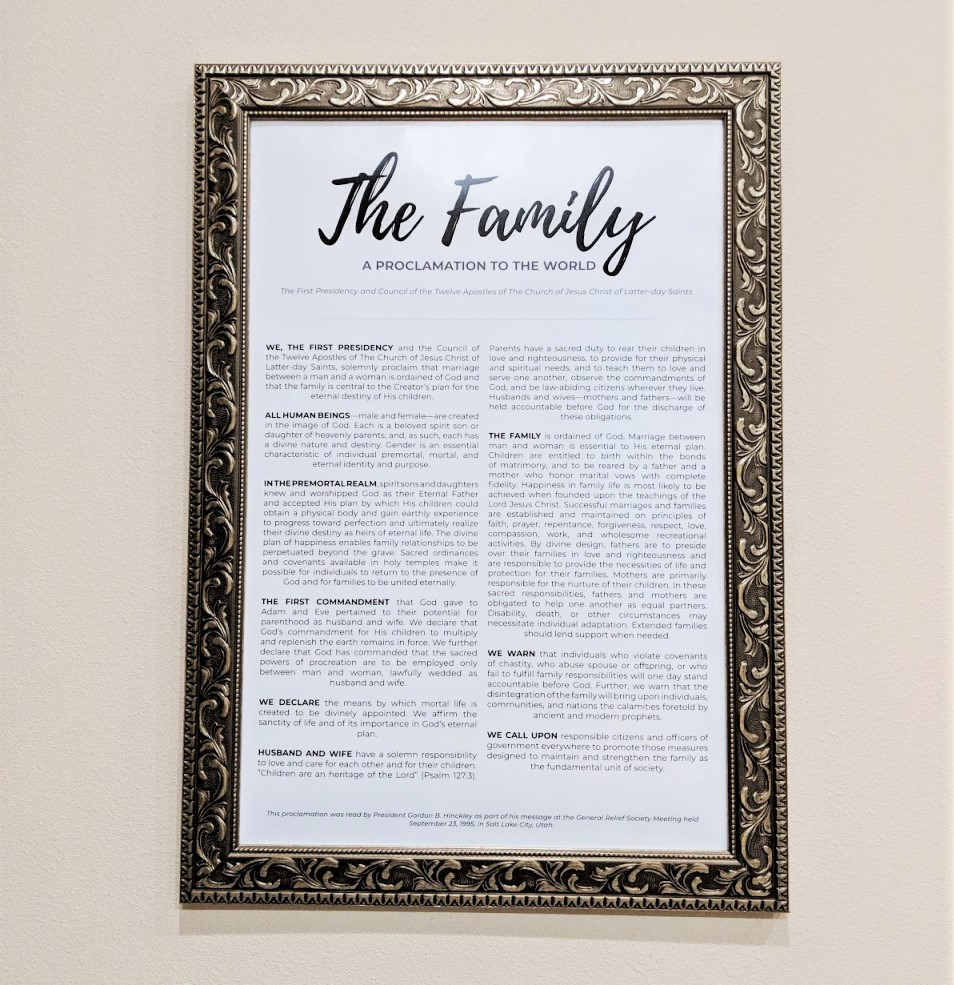 The Family A Proclamation To The World Free Printable