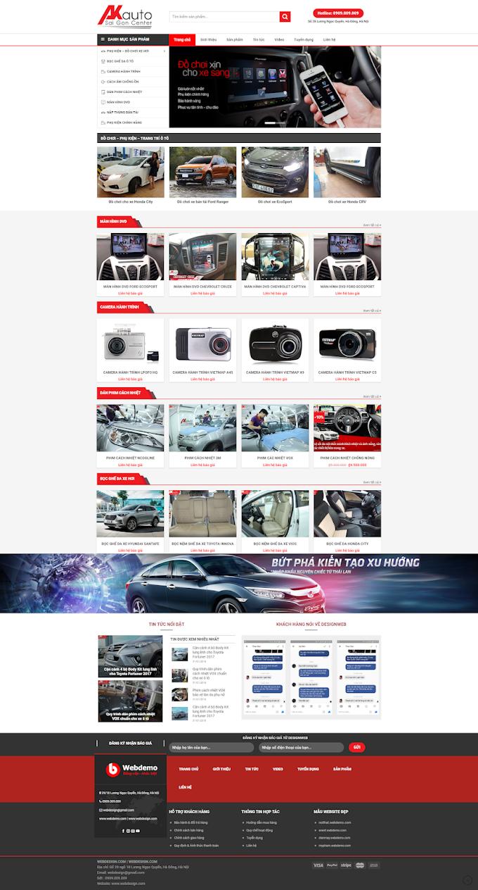 Mẫu website giới thiệu ô tô