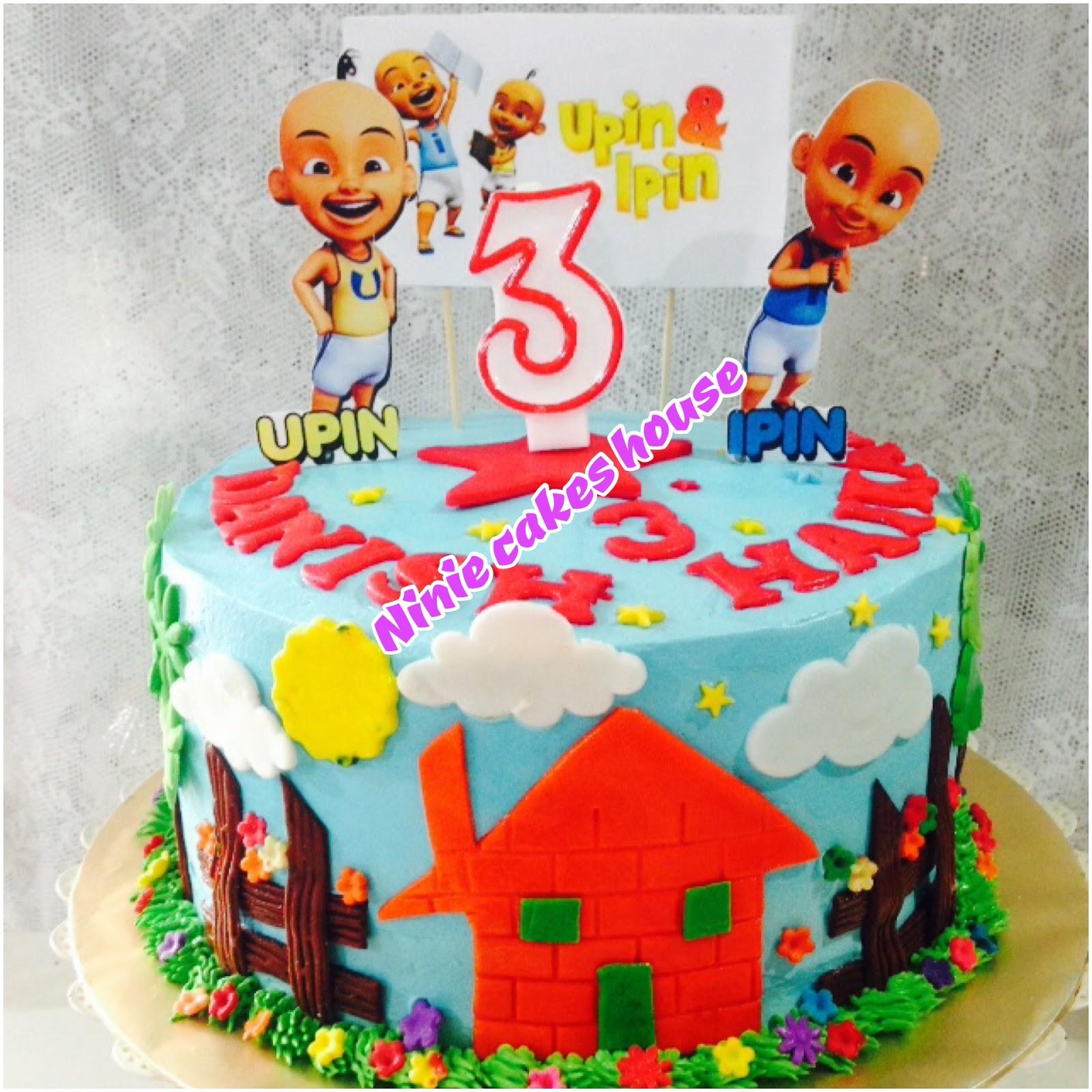 Ninie Cakes House: Upin & Ipin Fondant Birthday Cake