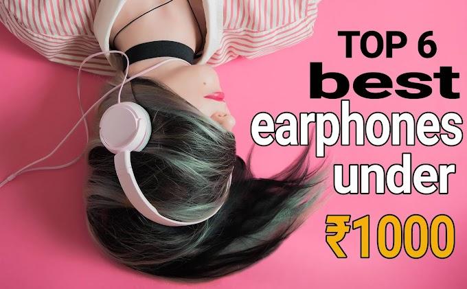 top 6 best earphones under ₹1000 with mic जाने हिंदी में
