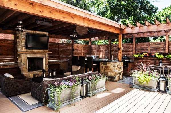 desain dapur outdoor minimalis
