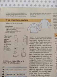 patron  couture chemise