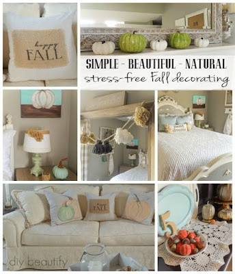 Decorate for fall with nature and simplicity! Find more at diy beautify.