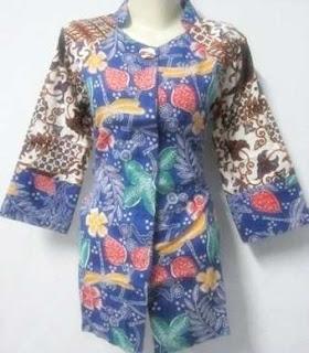 Model baju batik kerja wanita kantor