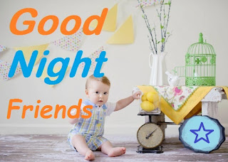 good night friends baby images