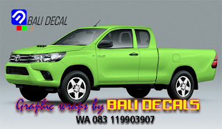 wrapping toyota hilux denpasar