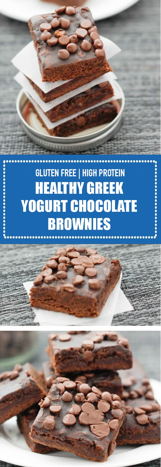 Greek Yogurt Chocolate Brownies