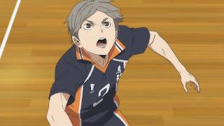 ハイキュー!! アニメ 3期7話   菅原孝支 Sugawara Koshi   Karasuno vs Shiratorizawa   HAIKYU!! Season3