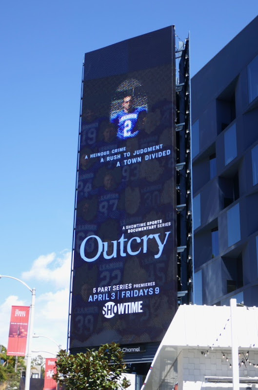 Outcry Showtime series billboard