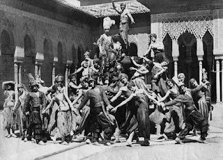 Los Ballets Rusos de Diáguilev en su visita a la Alhambra de Granada