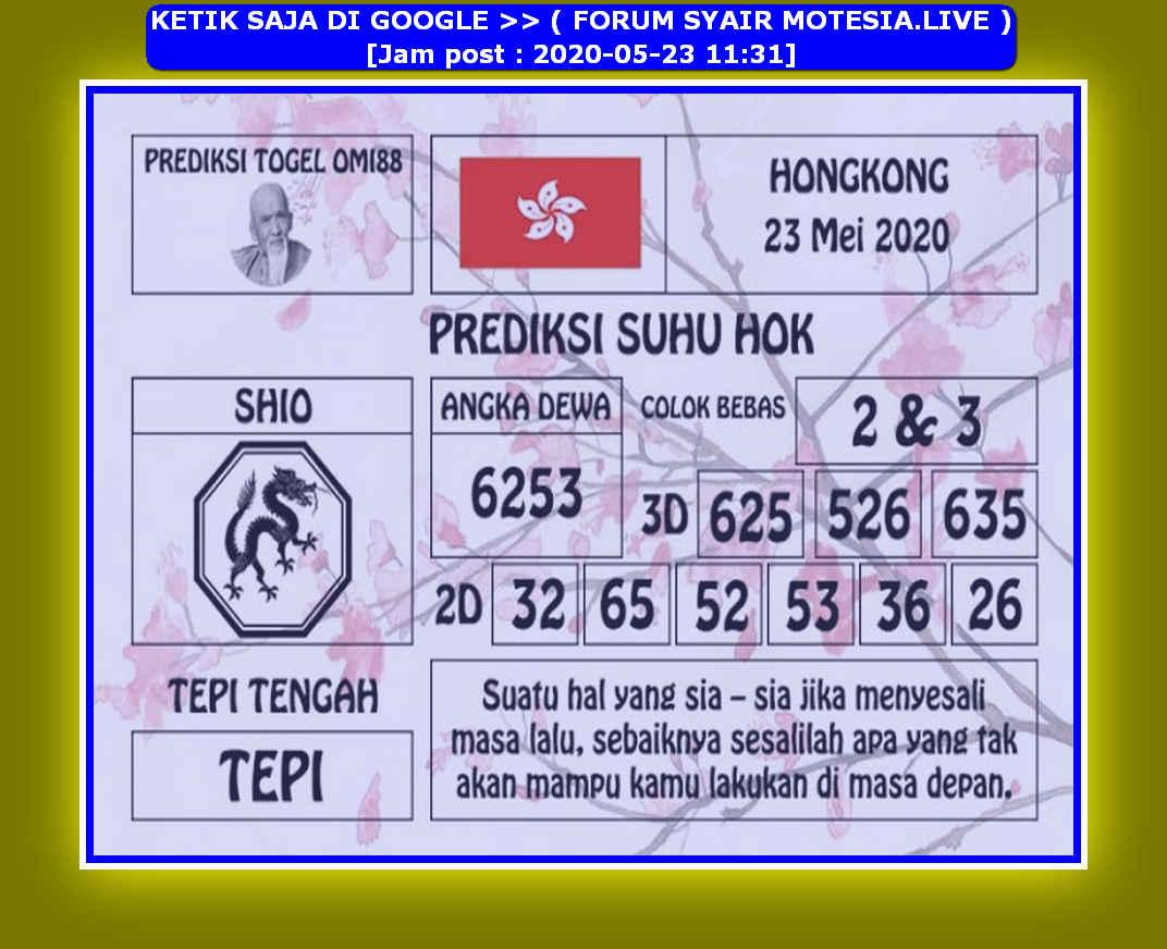 Kode syair Hongkong Sabtu 23 Mei 2020 127