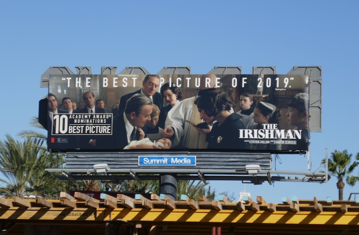 Irishman best picture Oscar billboard