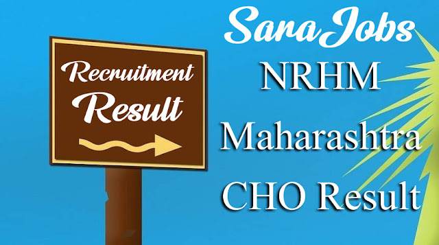 NRHM Maharashtra CHO Result