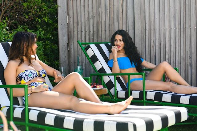 Vanessa Hudgens and Stella Hudgens Wearing Aerie Bikinis