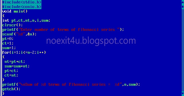 Wallpaper Nature With Quotes C Program To Calculate Sum Of N Terms Of Fibonacci Series