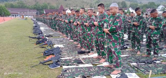 Satgas Yonif Raider 509 Kostrad, Rayakan Idul Adha di Medan Tugas