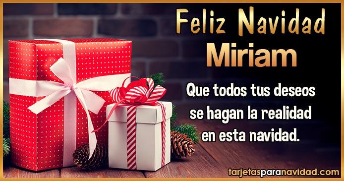 Feliz Navidad Miriam