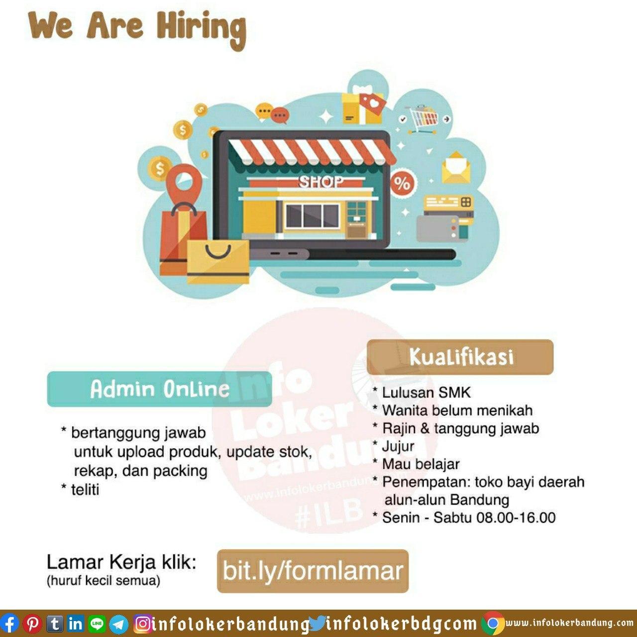 Lowongan Kerja Admin Online Toko Bayi Bandung Juni 2020