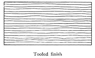 Dressing of stones tooled finish