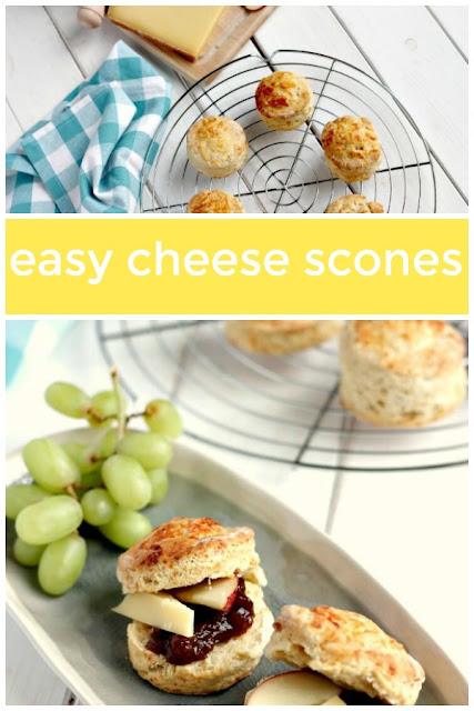 Easy Cheese Scones #cheesescones #baking