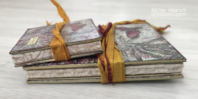 Mini Books using PaperArtsy Hot Picks stamps and Fresco paints - by Nikki Acton