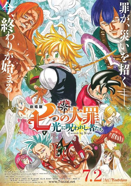 O Filme 'Nanatsu no Taizai Movie 2: Hikari ni Norowareshi Mono-tachi' chega na Netflix em Outubro