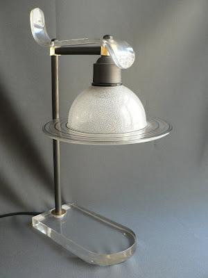 LAMPARA DE MESILLA DE NOCHE METACRILATO VINTAGE
