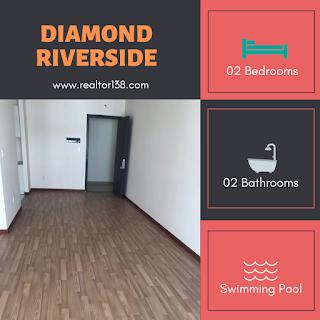 cho thuê căn hộ 2 phòng ngủ diamond riverside block d