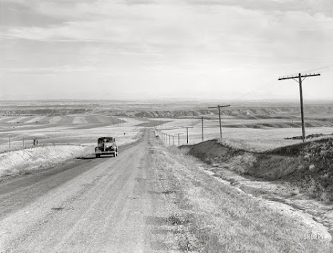 Old Highway Picture Near Havre Montana