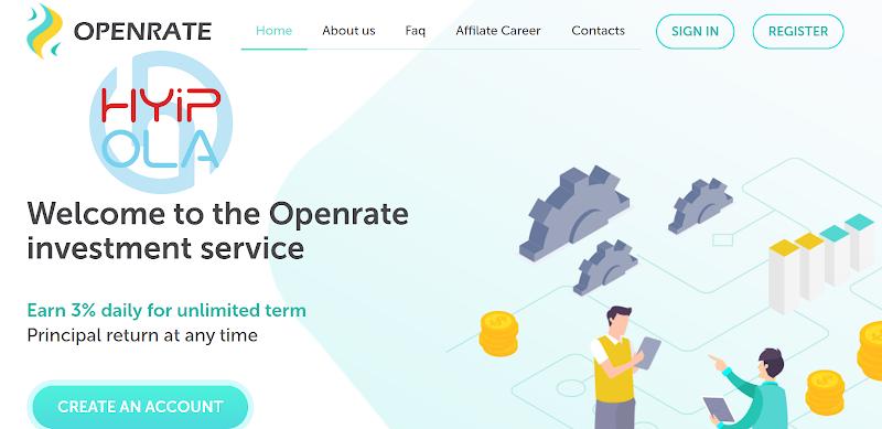 [SCAM] Review OpenRate - Dự án chiến nhanh rất tốt lãi 3% hằng ngày mãi mãi - cho rút vốn