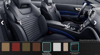Nội thất Mercedes SL 400 2016 màu Xám Titanium Pearl X26